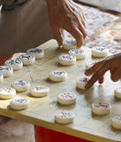 Xiangqi. Pieces of the Chinese game called Xiangqi resembling chess Royalty Free Stock Image