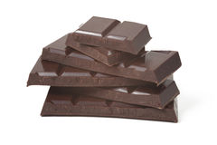 Pieces of chocolate Stock Photos