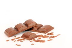 Pieces of chocolate Royalty Free Stock Image