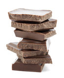 Pieces of chocolate Royalty Free Stock Photo