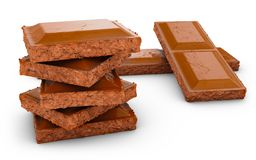 Pieces of a chocolate Stock Images