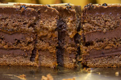 Pieces chocolate cake Royalty Free Stock Photography