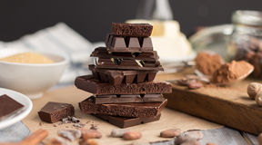 Pieces of chocolate Royalty Free Stock Images