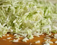Pieces of chopped cabbage Royalty Free Stock Image