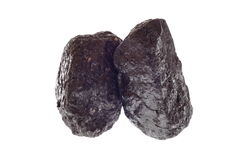 Pieces of coal isolated on white. Pieces of carbon, coal isolated on white Stock Photography