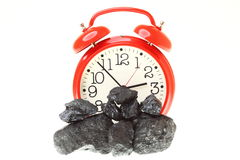 Pieces of coal isolated on white background Royalty Free Stock Photography