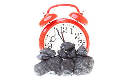Pieces of coal isolated on white background Royalty Free Stock Image
