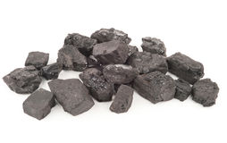 Pieces of coal Stock Photography