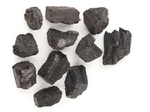 Pieces of coal Royalty Free Stock Image