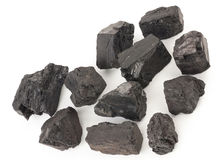 Pieces of coal Royalty Free Stock Photography