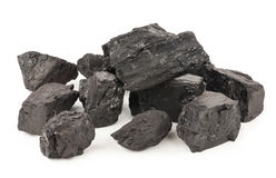 Pieces of coal Stock Images