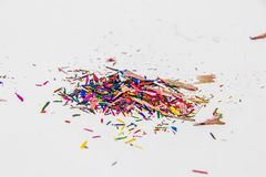 Color Pencil Leftover. Pieces of Color Pencil Leftover Royalty Free Stock Images