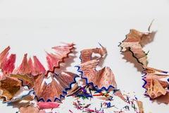 Color Pencil Leftover. Pieces of Color Pencil Leftover Stock Photos