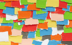 Pieces of colored construction paper Stock Photos