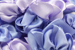 Pieces of colored fabric background Stock Photography