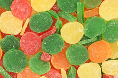 Pieces of colored jelly  background Stock Images