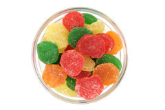 Pieces of colored jelly Stock Photos