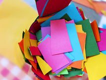 Pieces of colored paper Stock Photography