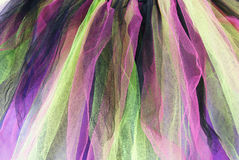 Pieces of colored tulle Stock Images