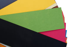 Pieces of colorful cardboard paper Royalty Free Stock Photos