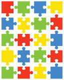 Pieces of colorful puzzle Stock Images
