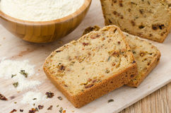 Pieces of corn bread with dried paprika Royalty Free Stock Image