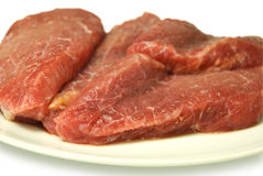 Pieces of crude meat Royalty Free Stock Images