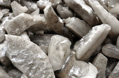 Pieces of crushed ice. Big pieces of crushed ice Stock Image