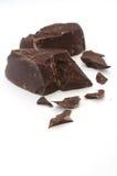 Pieces of dark chocolate broken Stock Image