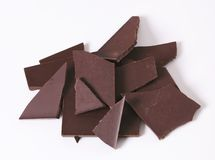 Pieces of dark chocolate Royalty Free Stock Image