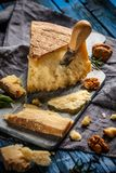 Delicious parmesan cheese royalty free stock image