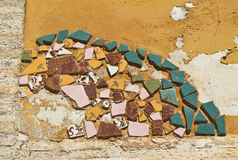 Pieces of destroyed mosaic Royalty Free Stock Photos
