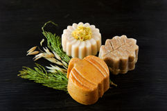 Pieces of different natural soap Royalty Free Stock Image
