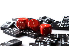 Pieces of domino Stock Images