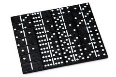 Pieces of domino Stock Photography