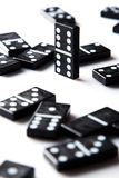 Pieces of domino Stock Photos