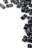 Pieces of domino on white Royalty Free Stock Photography