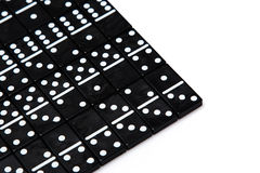 Pieces of domino on white Stock Photography
