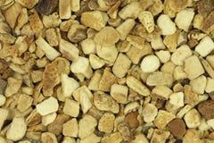 Pieces of dried lemon peel Stock Photo