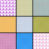 Fabric background. 9 pieces of fabric background Royalty Free Stock Photos
