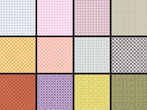 Fabric background. 12 pieces of fabric background Royalty Free Stock Image
