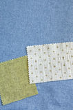 Pieces of fabric Stock Images