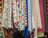 Pieces of fabric Stock Image