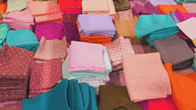 Pieces of felt for sale at wholesale in the haberdashery shop Royalty Free Stock Photo
