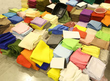 Pieces of felt for sale at wholesale in the haberdashery shop Stock Images