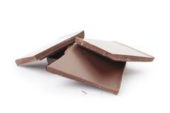 Pieces of fine milk chocolate Stock Photo