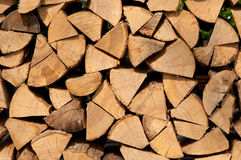 Pieces firewood stock image