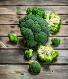 Pieces of fresh broccoli royalty free stock photography