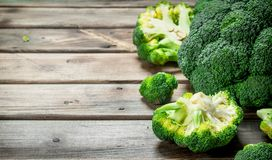 Pieces of fresh broccoli stock photos