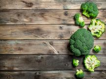 Pieces of fresh broccoli stock photography